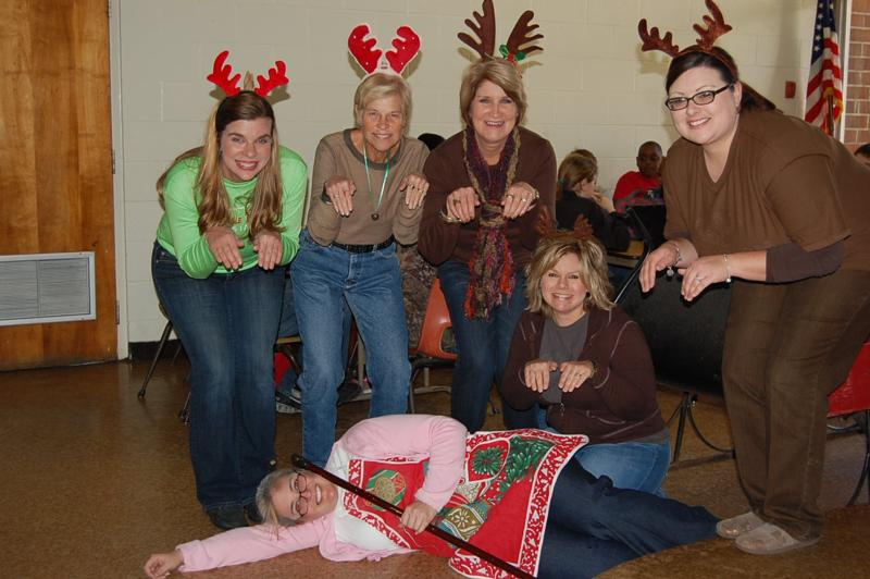 teachers participated in a christmas carol dress up day third graade teachers dressed up to the carol grandma got run over by a reindeer - Christmas Dress Up